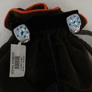 John Hardy Earrings SEA Colorway Topaz Aquamarine